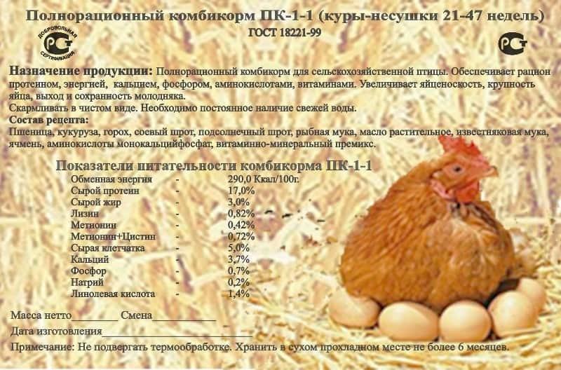 Чем кормить кур несушек: пк-1, пк-2