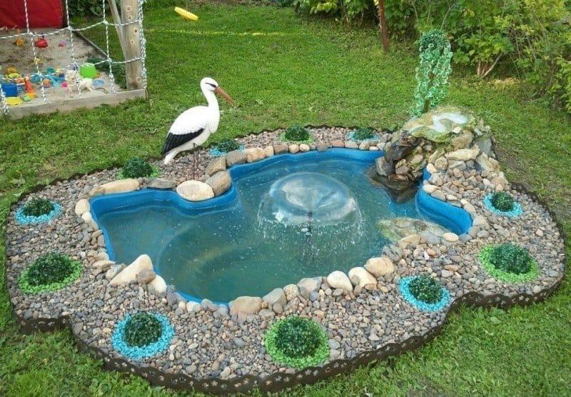 Как сделать пруд и декорировать